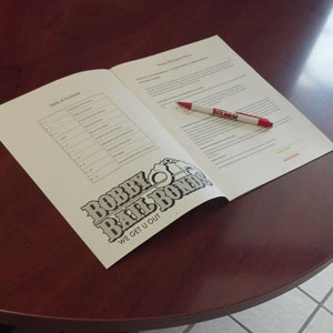 Bobby Bail Bonds will have you sign some paperwork and will get your loved one out